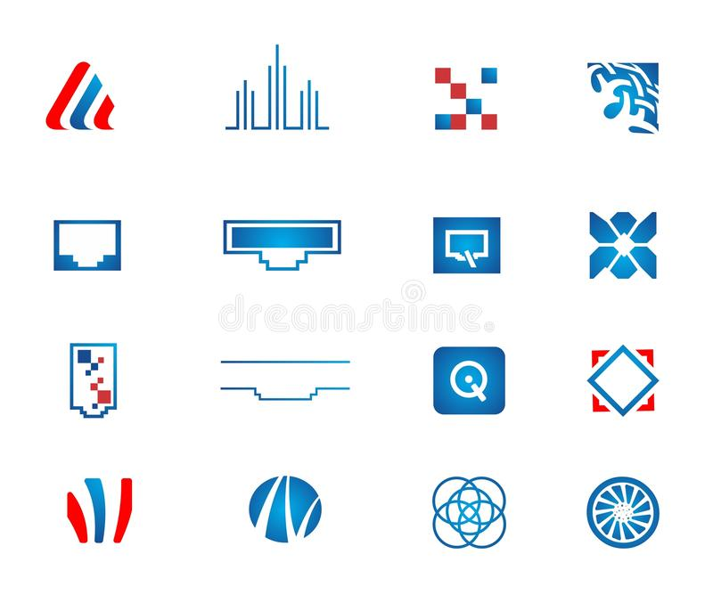 Vector Network Icons Set Stock Images