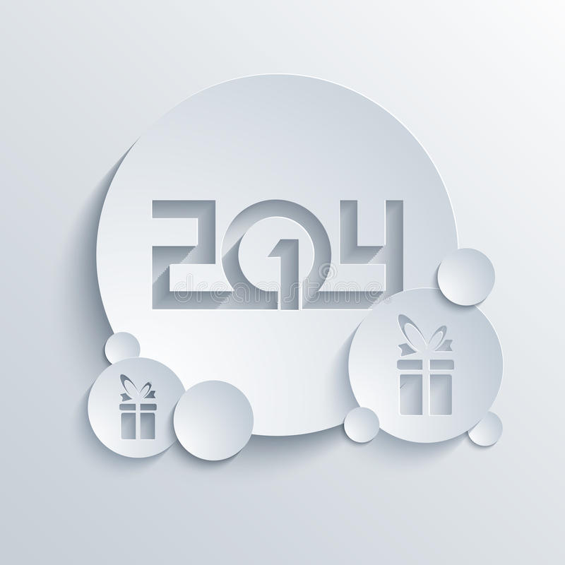 Vector new year 2014 background. Eps10. See my other works in portfolio royalty free illustration
