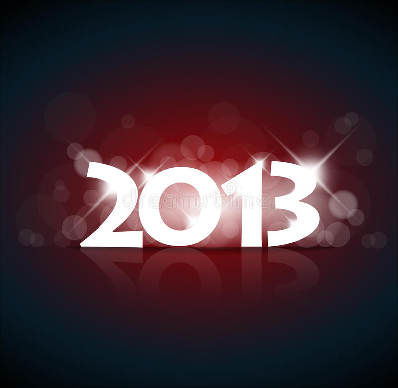 Download Vector New Year card 2013 stock vector. Image of year - 26321902