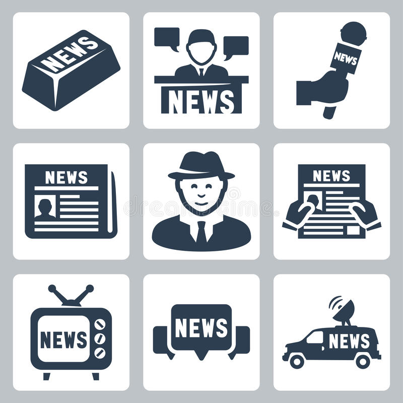 Download Vector News And Journalism Icons Set Stock Vector - Image: 34988822