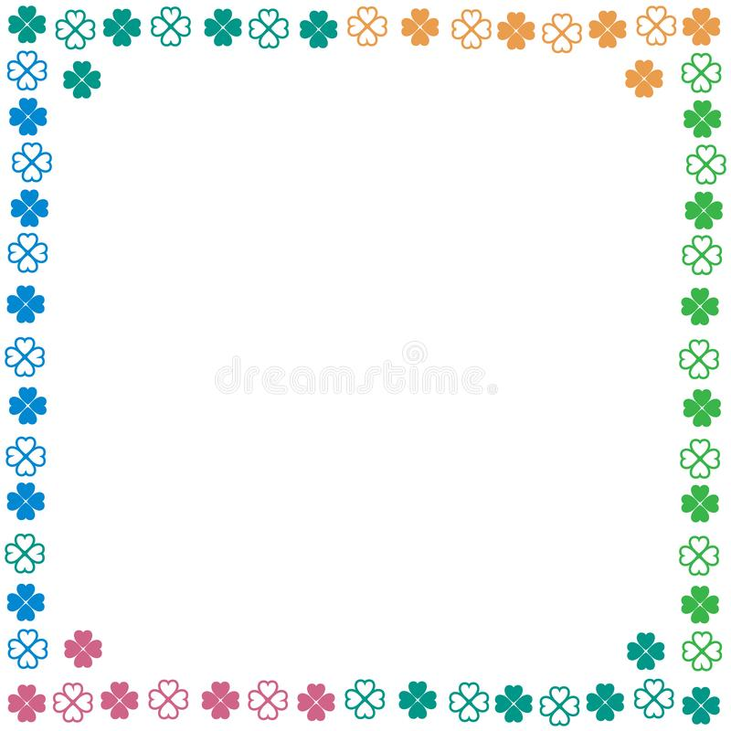 Nice picture-frame from various pieces of clover. Vector. Nice picture-frame from various pieces of clover stock illustration