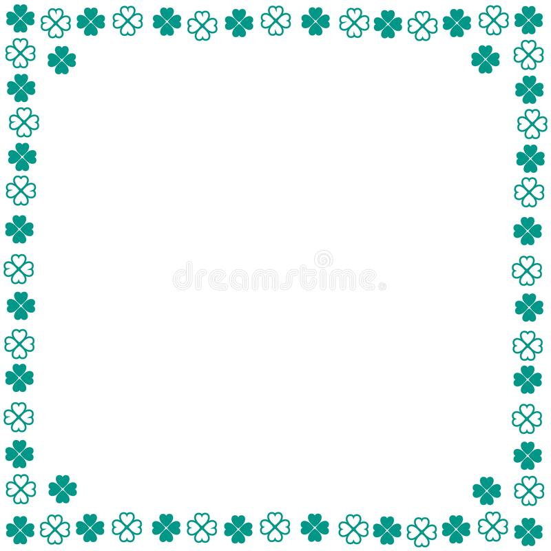 Nice picture-frame from various pieces of clover. Vector. Nice picture-frame from various pieces of clover vector illustration