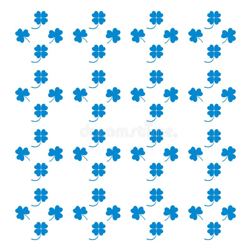 Nice picture from various pieces of clover located around. Vector. Nice picture from various pieces of clover located around stock illustration