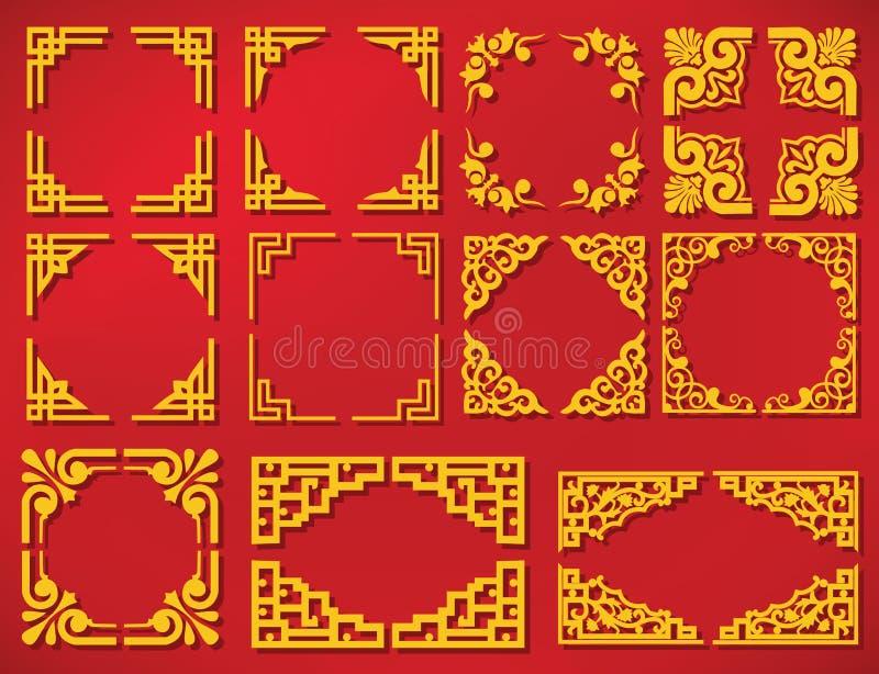 Vector nieuw het jaarkader van China vector illustratie