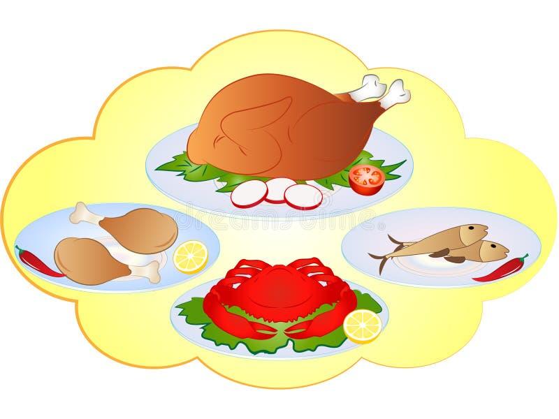 Vector Non-Veg Food Items stock vector. Illustration of ...