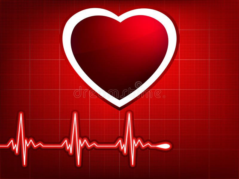 Vector normal ecg red background. EPS 8. Vector normal ecg red background, heartbeat. Great for scientific, medical purposes. EPS 8 file included royalty free illustration