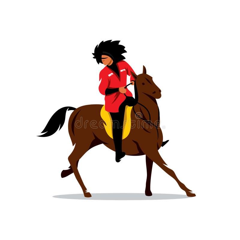 Free Vector North Caucasus Rider Cartoon Illustration. Royalty Free Stock Image - 76884756