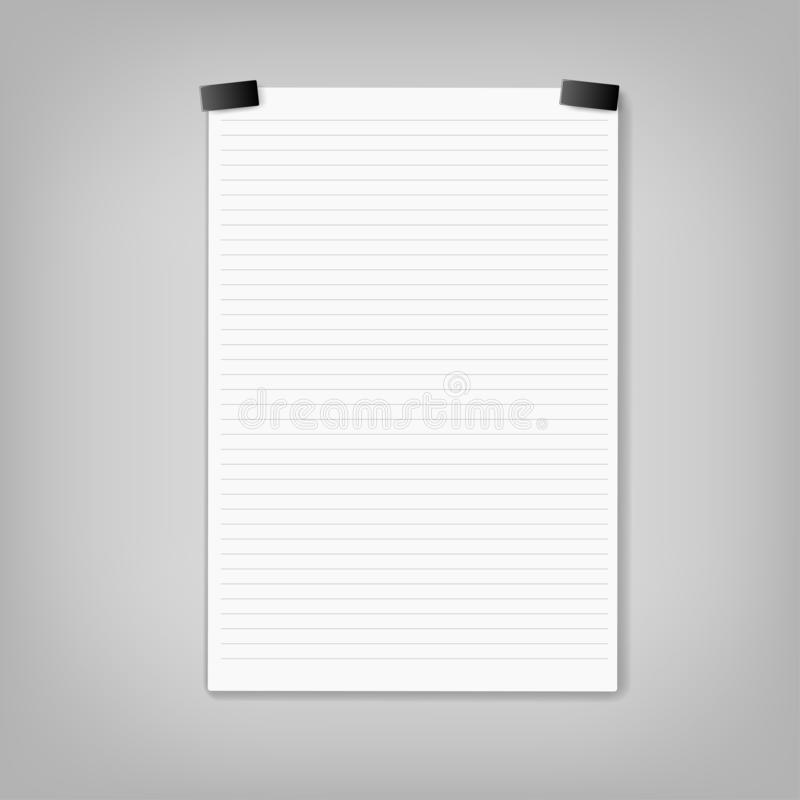 Vector Note Paper. stationery, business document royalty free stock photo