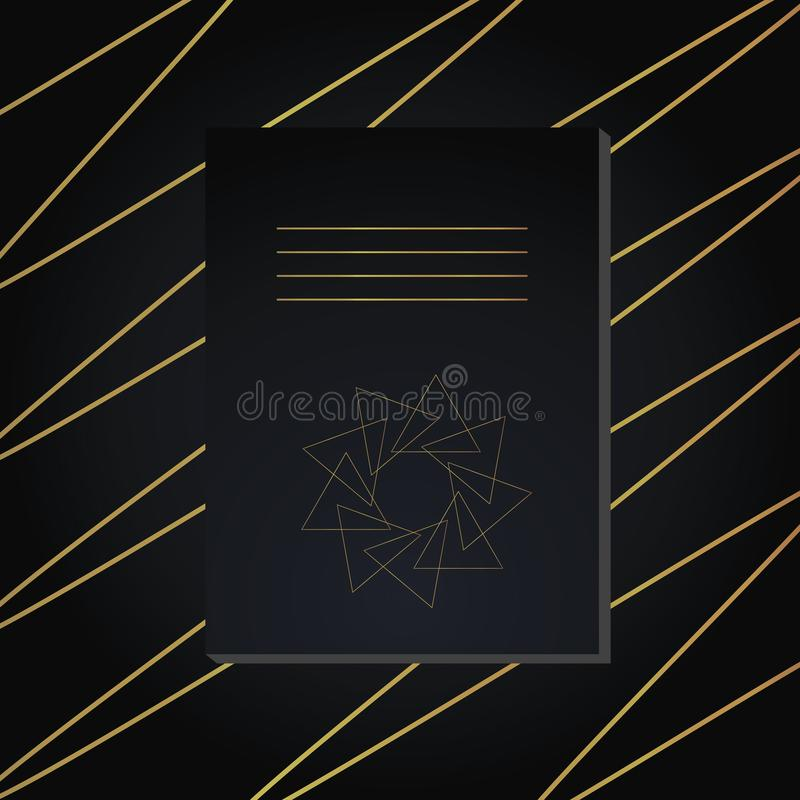 Vector notebook cover. Decorative ornament to be printed on the covers of books, notebooks, planners.  vector illustration