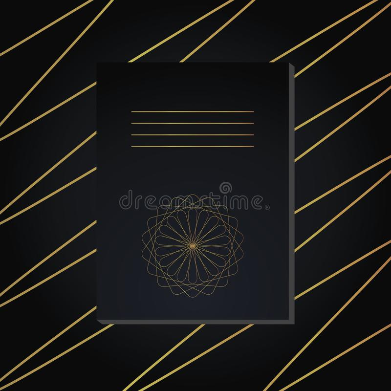 Vector notebook cover. Decorative ornament to be printed on the covers of books, notebooks, planners.  stock illustration