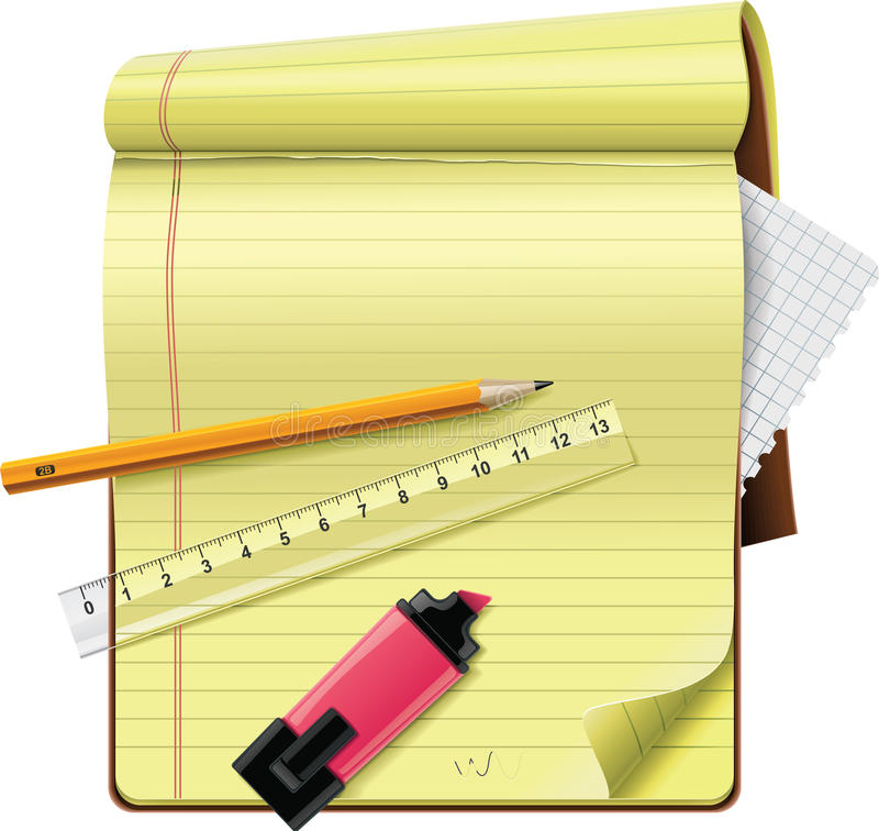 Vector notepad XXL detailed icon royalty free illustration