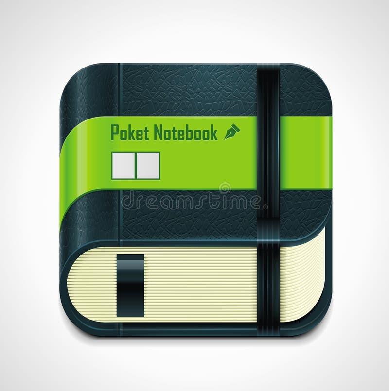Vector notepad XXL icon stock illustration