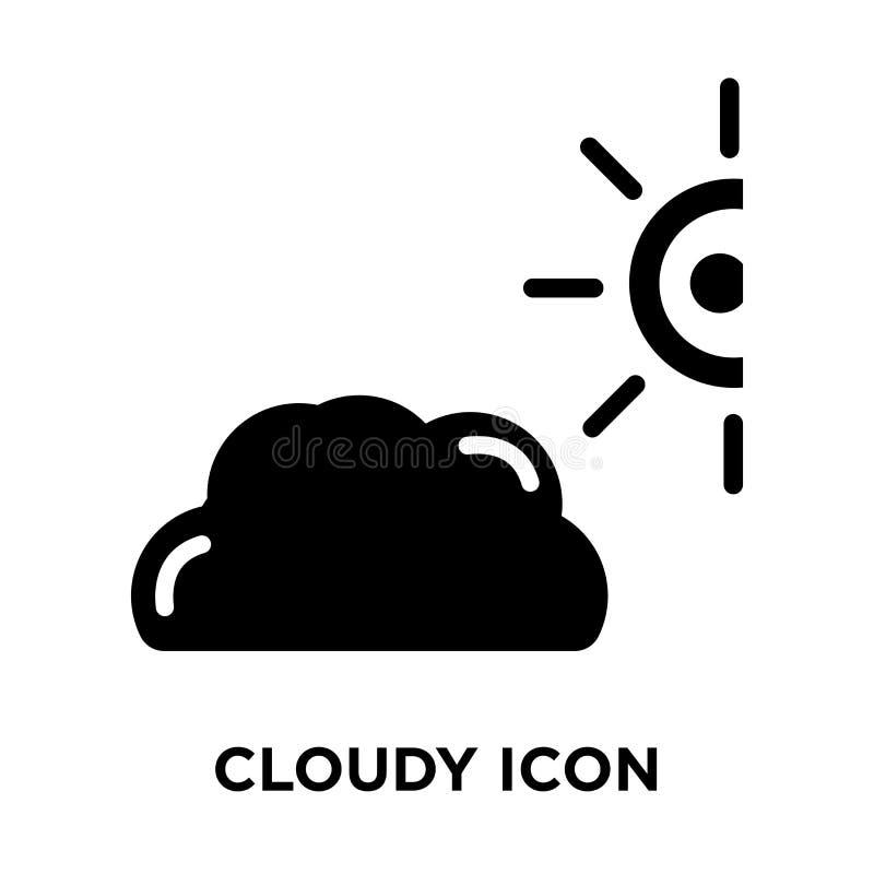 Vector nublado del icono aislado en el fondo blanco, concepto del logotipo de libre illustration
