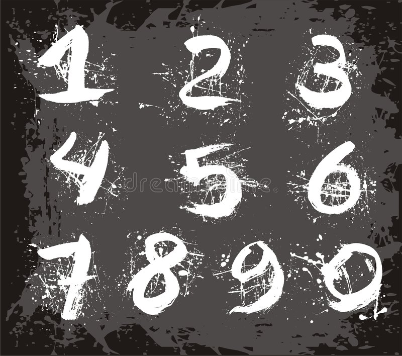 Vector numbers royalty free illustration