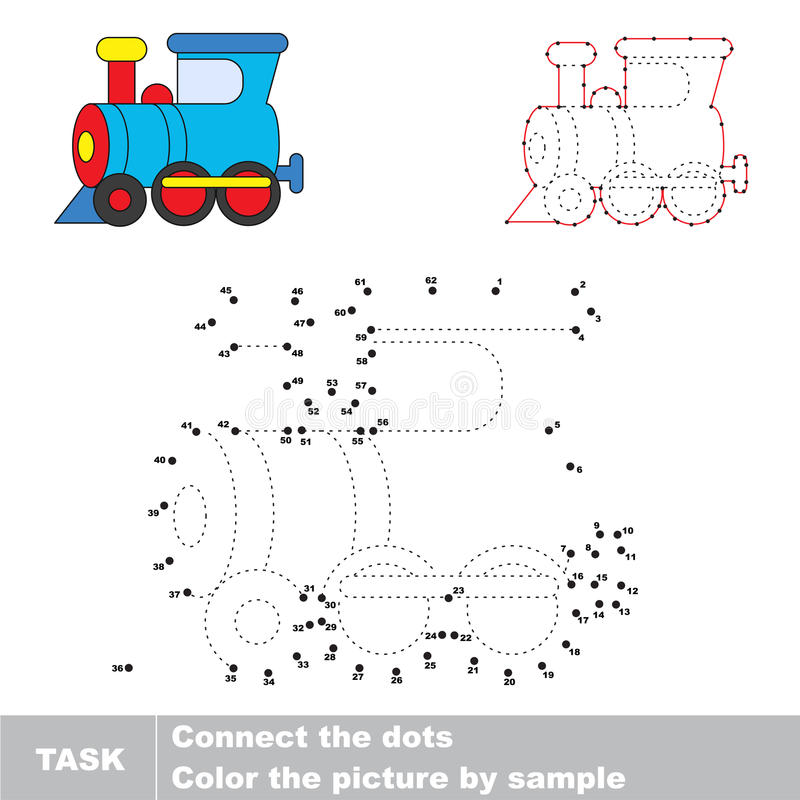 Vector numbers game. stock illustration