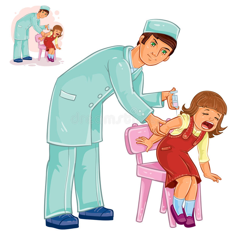 Free Vector Nurse Doing An Inoculation To A Small Girl Stock Photo - 91286870