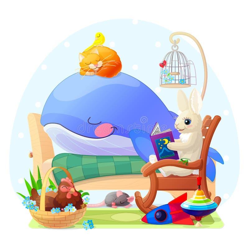 Vector nursery wall art for kids. Cute illustration royalty free illustration