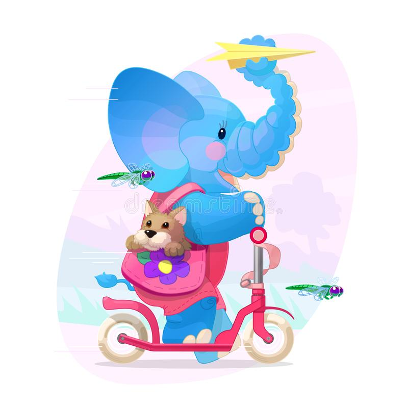 Vector nursery wall art for kids. Cute illustration vector illustration