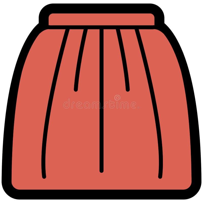 Vector o ícone da saia cor-de-rosa para mulheres no estilo liso Pixel perfeito negócio e olhar do escritório ilustração do vetor