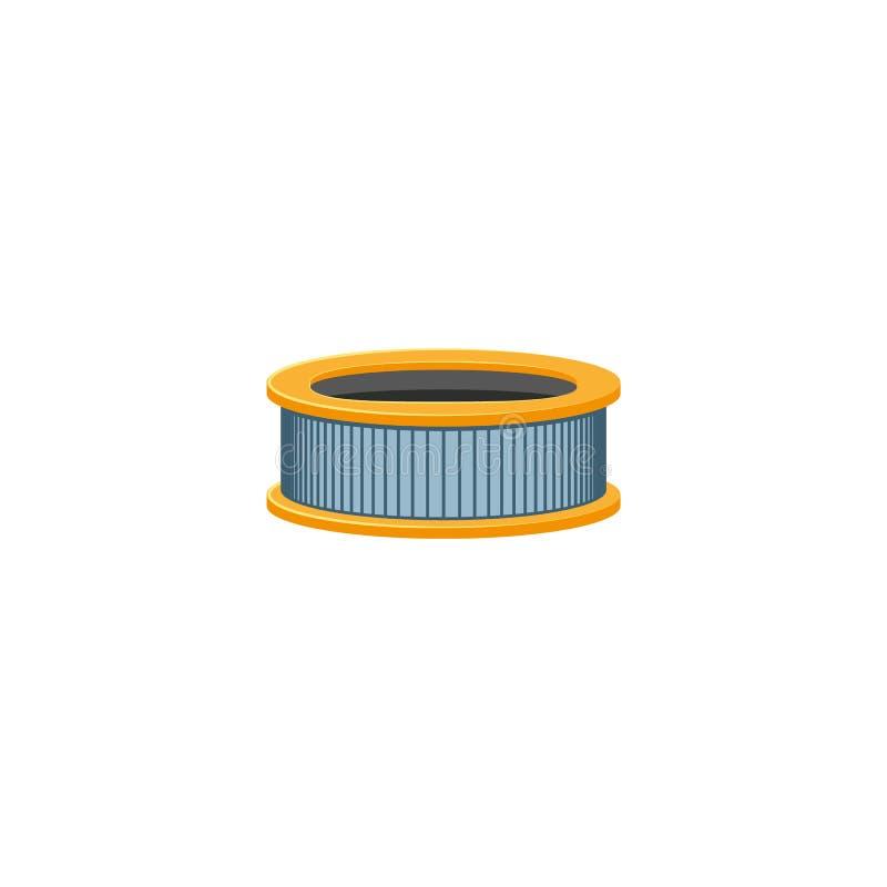 Vector o ícone do filtro de ar do motor do carburador do carro liso ilustração royalty free