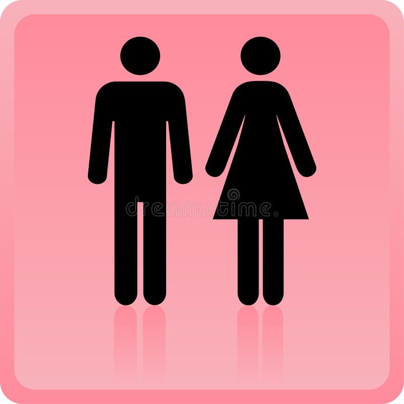 Vector o ícone do homem & da mulher ilustração stock