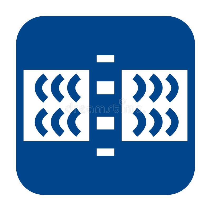 Vector o ícone liso do projeto de testes da onda guiada ilustração royalty free