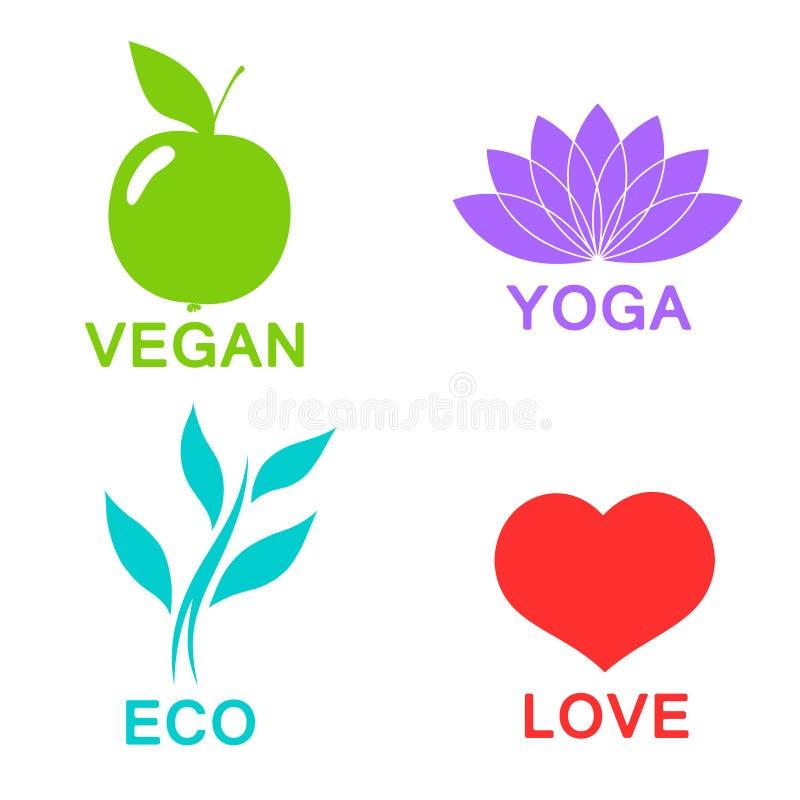 Vector o alfabeto verde da ecologia - ícones e símbolos ilustração do vetor
