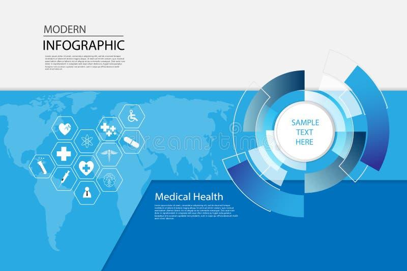 Vector o backgro médico do conceito do ícone da ciência abstrata dos cuidados médicos ilustração royalty free