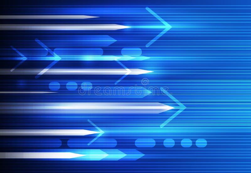 Vector o borrão abstrato da velocidade e de movimento, ciência, futurista, fundo da tecnologia energética ilustração do vetor