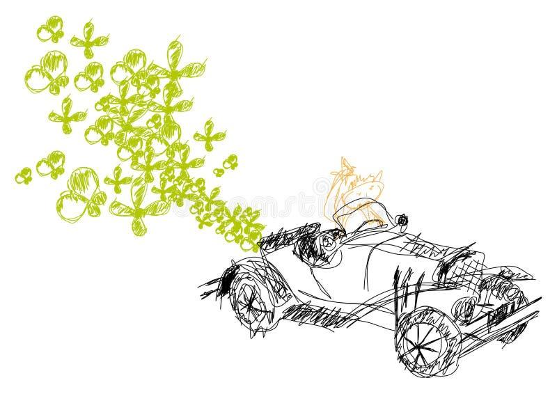 Carro ecológico do vetor ilustração royalty free