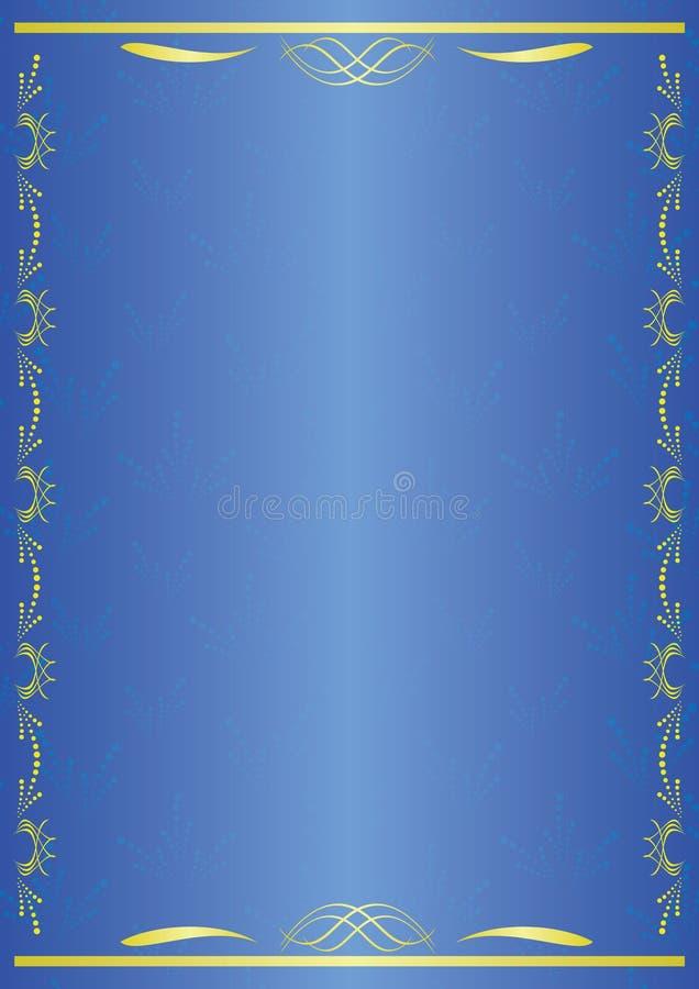 vector o cartão decorativo azul com tracery ilustração do vetor