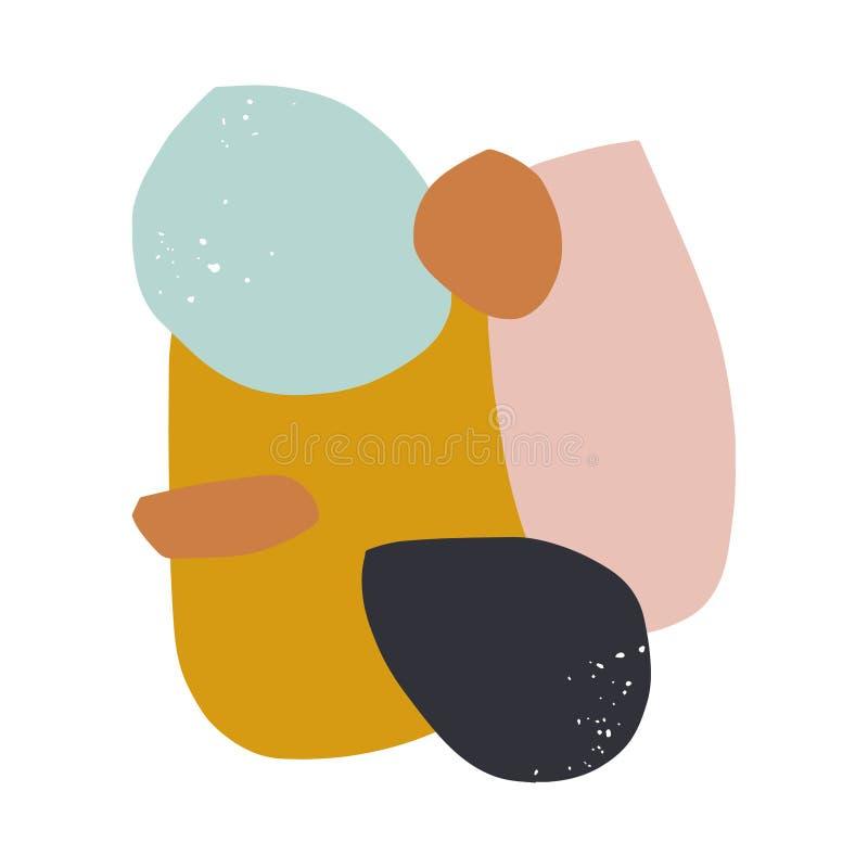 Vector o cartaz escandinavo abstrato, teste padrão simples das formas ilustração royalty free