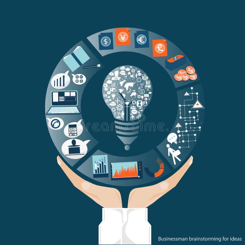 Vector o comércio das comunicações empresariais no mundo inteiro e colabore à disposição ilustração do vetor