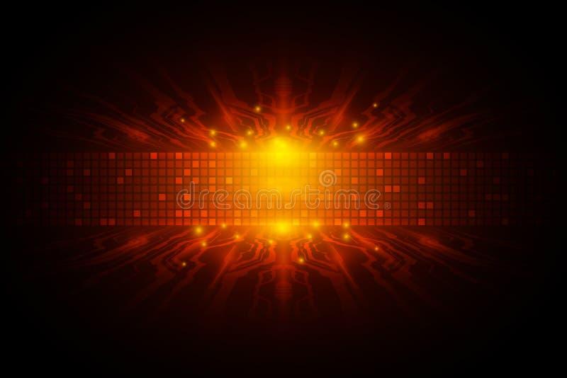 Vector o conceito digital da tecnologia da velocidade, ilustração abstrata do fundo ilustração do vetor