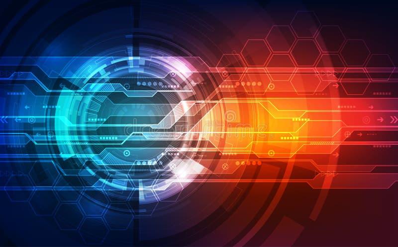 Vector o conceito digital futuro da tecnologia da velocidade, ilustração abstrata do fundo ilustração stock