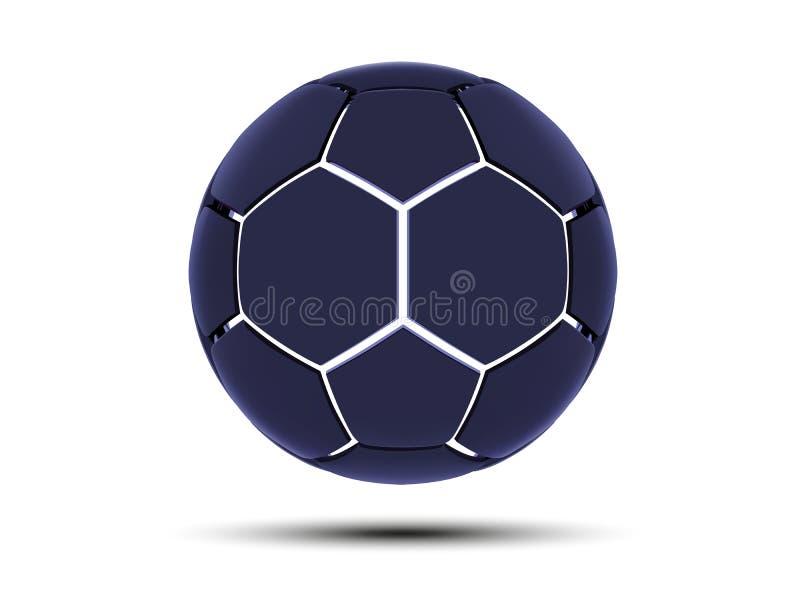 Vector o conceito futurista dos esportes de uma bola de futebol Bola digital moderna Projeto da bola do futebol da alta tecnologi ilustração royalty free