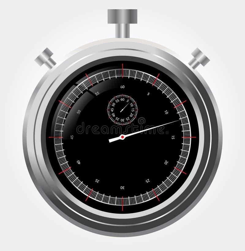 Vector o cronômetro no mecânico retro ch do detalhe elevado ilustração stock