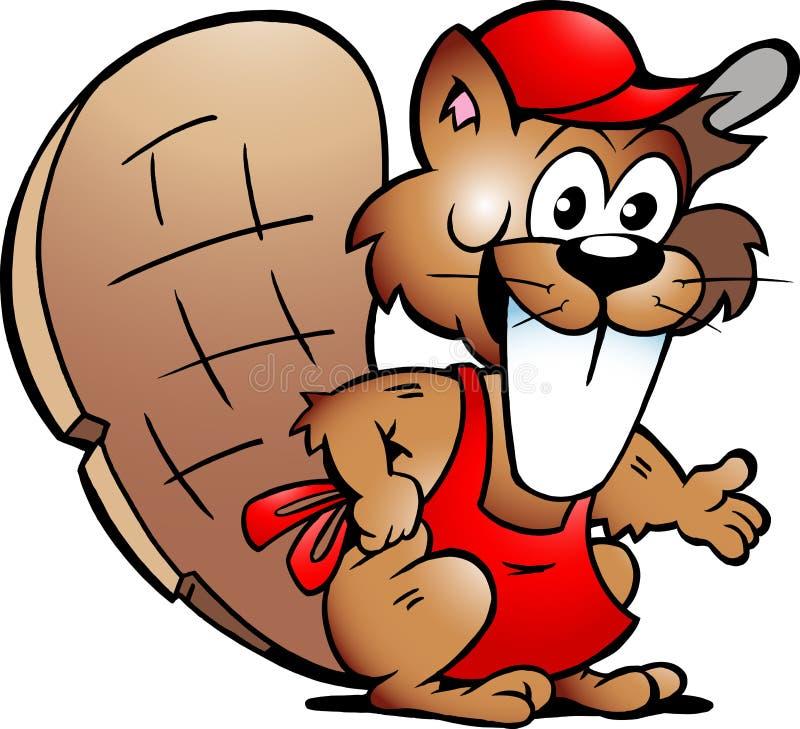 Vector o desenho de convidados de um serviço do castor
