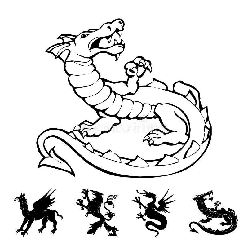 Vector o dragão ilustração do vetor
