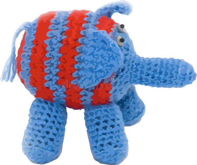 Vector o elefante feito malha fotografia de stock