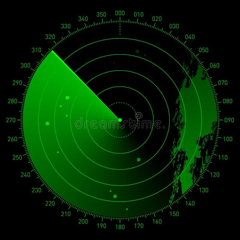 Vector o espaço do sonar ilustração do vetor
