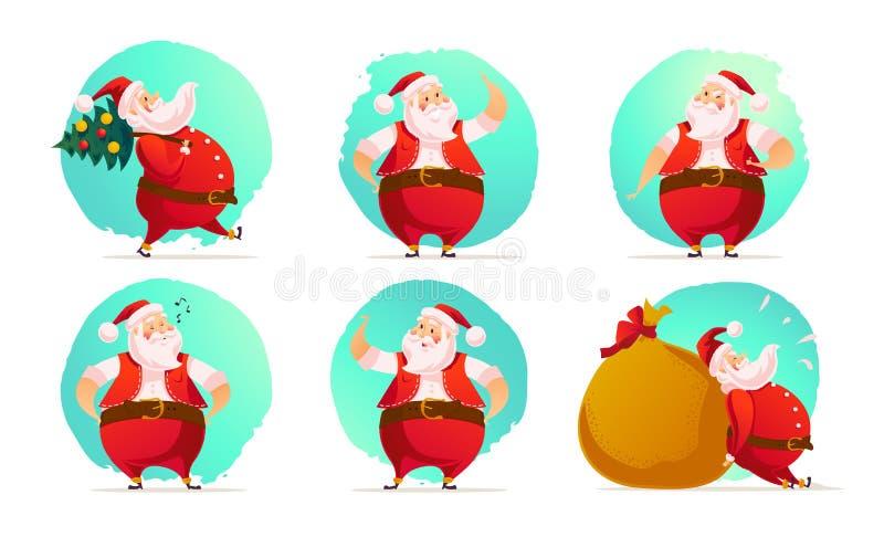 Vector o Feliz Natal, projeto das felicitações do ano novo feliz ilustração do vetor