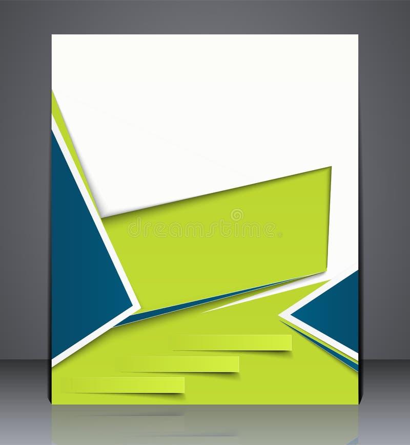 Vector o folheto do negócio da disposição, a capa de revista, ou a propaganda do molde do projeto incorporado ilustração stock
