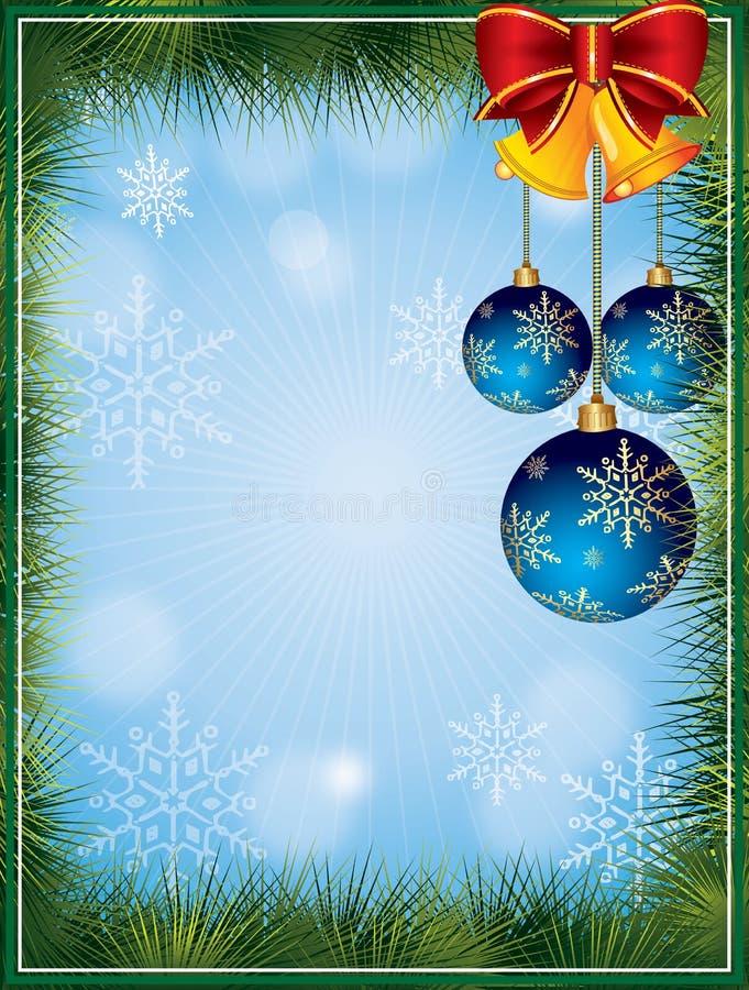 Vector o frame do Natal ilustração do vetor