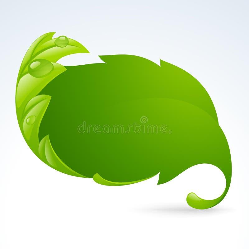 Vector o frame verde da folha, fundo 3 da mola ilustração stock