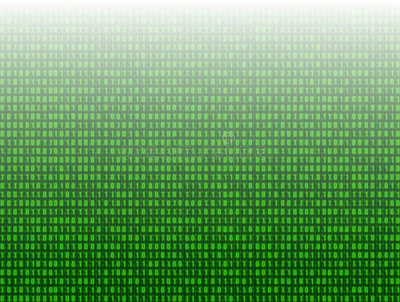 Vector o fundo abstrato da tecnologia, 3D efeito, dados do código binário do verde ilustração stock