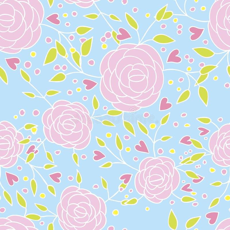 Download Teste padrão de Rosa ilustração do vetor. Ilustração de decoração - 29827732