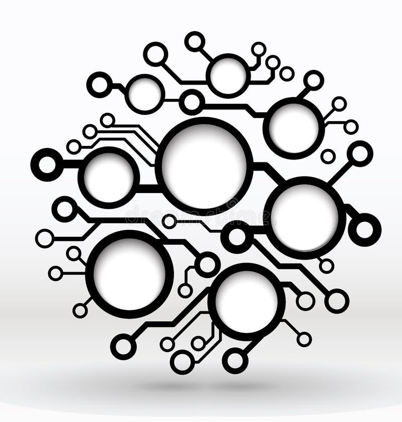 Fundo da placa de circuito do vetor. ilustração royalty free