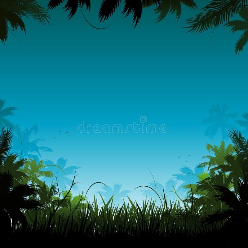 Vector o fundo da selva ilustração royalty free