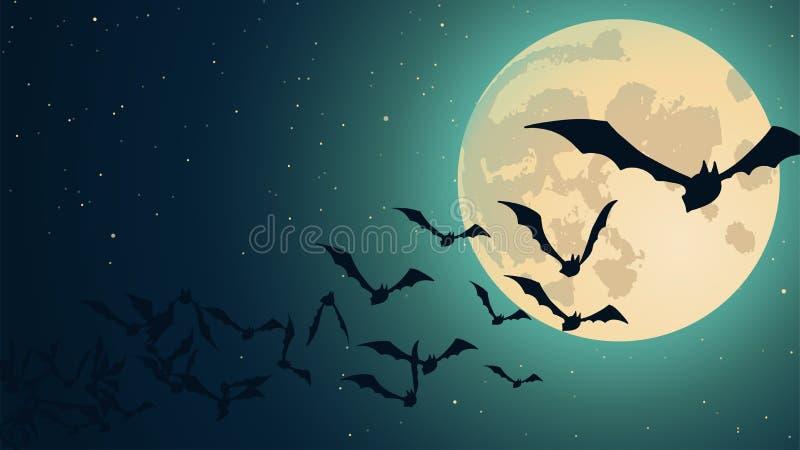 Vector o fundo de Halloween ilustração stock